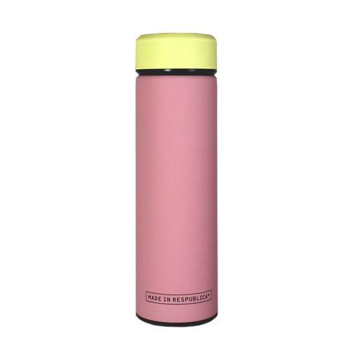 Термос, 400 мл, желтый+розовый