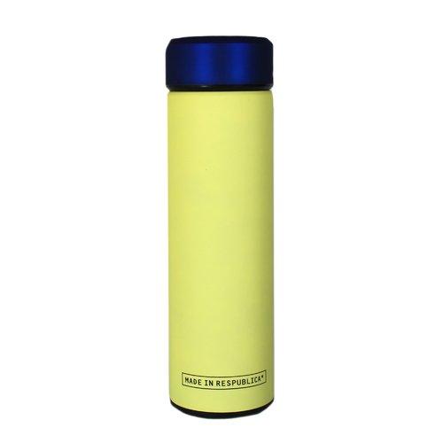 Термос, 400 мл, синий+желтый