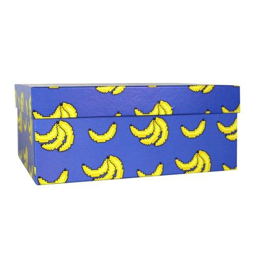 Коробка подарочная Бананы, 23 х 16 х 9,5 см подарочная коробка зигзаги 9 х 16 х 23 см