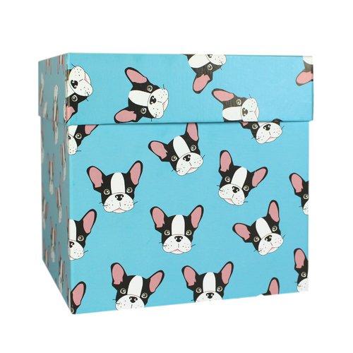 Коробка подарочная Собака, 18,5 х 18,5 х 18,5 см