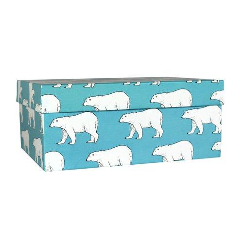 Коробка подарочная Белые медведи, 23 х 16 х 9,5 см подарочная коробка зигзаги 9 х 16 х 23 см