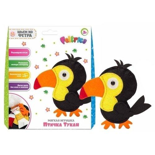 Набор для творчества Шьем из фетра. Птичка Тукан maxi art набор для творчества игрушка из фетра щенок