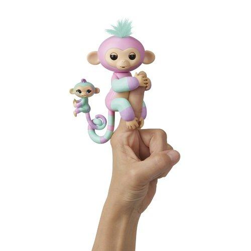 Купить Интерактивная обезьянка Эшли с малышом , WowWee, Интерактивные игрушки