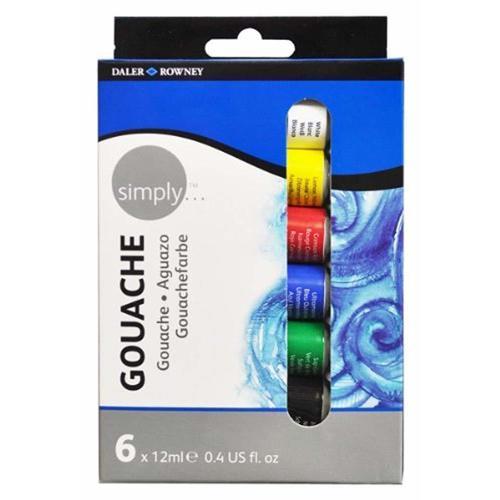 Набор гуаши Simply, 6 цветов набор масляных красок simply 6 х 12 мл