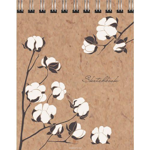 Скетчпад Цветы хлопка, 20 листов, 14 х 20 см скетчпад прятки а5 40 листов 120 г м2 14 х 20 см