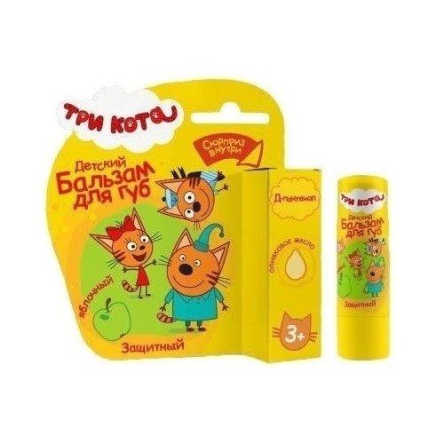 Купить Детский бальзам для губ Яблочный , с оливковым маслом, Три Кота, Детская косметика