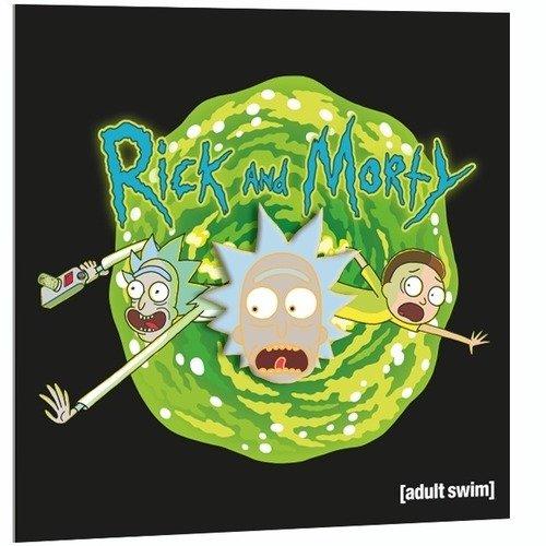 """Значок металлический """"Рик и Морти. Удивленный Рик"""""""