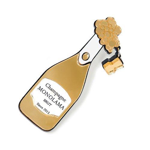 """Брошь """"Шампанское"""", золотистая"""
