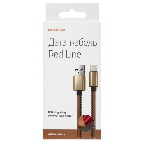 цена на Дата-кабель Red Line USB – 8 – pin для Apple, красный