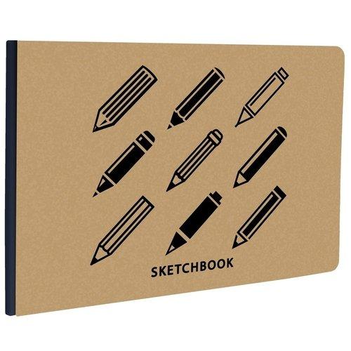 """Cкетчбук """"Kraft&Color. Дизайн 2"""" А5-, 40 листов, 13 х 18 см"""