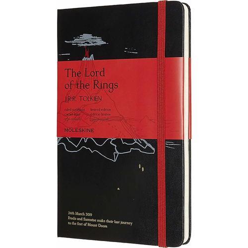 """Блокнот """"Le Lord Of The Rings. Mt. Doom"""" Large, 240 страниц, в линейку, 13 х 21 см, черный"""