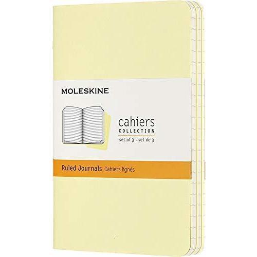 """Блокнот """"Cahier Journal"""" Pocket, 32 листа, в линейку, 9 x 14 см, нежно-желтый"""