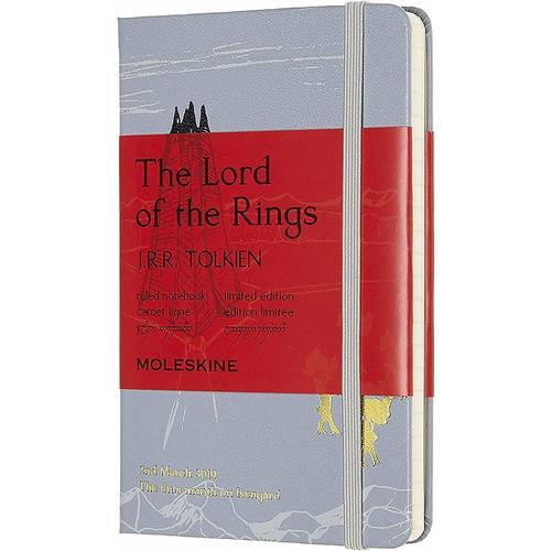 """Блокнот """"Le Lord Of The Rings Isengard"""" Pocket, 192 страницы, в линейку, 9 х 14 см, серый"""
