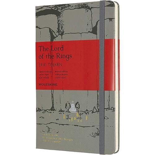"Блокнот ""Le Lord Of The Rings. Moria"" Large, 240 страниц, в линейку, 13 х 21 см, серый"