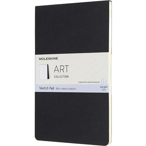 Блокнот для рисования Art Soft Sketch Pad Large, 88 страниц, 13 х 21 см, черный набор art collection sketching блокнот для рисования large акварельные карандаши