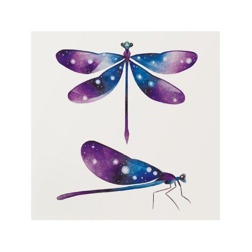 """Переводная татуировка """"Dragonfly"""", 10 х 10 см мнетату временная переводная татуировка легкость"""