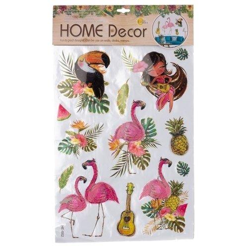 Декоративная интерьерная наклейка Фламинго 2, 62 х 37 см наклейка декоративная оранжевый слоник коты 45 х 35 см 45dn011rgb