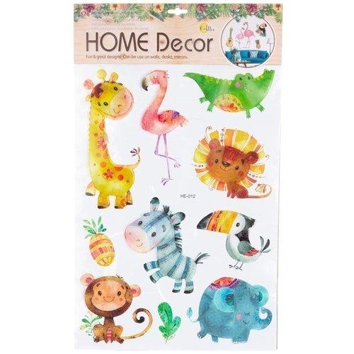 Декоративная интерьерная наклейка Животные 1, 37 х 62 см наклейка декоративная оранжевый слоник коты 45 х 35 см 45dn011rgb