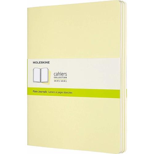 """Блокнот """"Cahier Journal"""" XLarge, 60 листов, 70 г/м2, нелинованный, 19 х 25 см, нежно-желтый"""