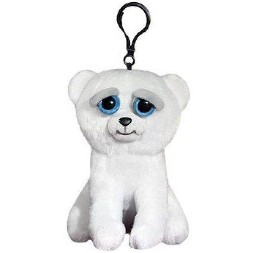 Мягкая игрушка Медведь белый, 11 см, с карабином