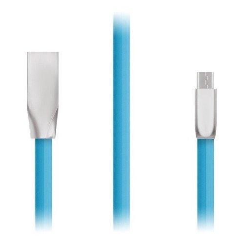 Фото - Кабель Kubic C03M Blue, USB - microUSB, 1 м кабель брелок microusb gmini gm mus200fkp плоский розовый