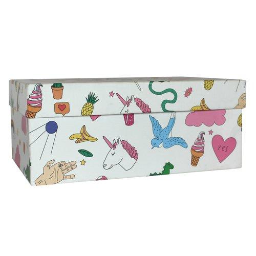 Подарочная коробка Фан, 23 х 16 х 10 см подарочная коробка зигзаги 9 х 16 х 23 см