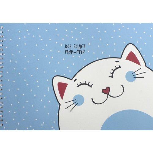 Альбом для рисования Mur-mur, 40 листов, 120 г/м2, 29 х 21 см альбом склейка чёрной бумаги kids 10 л 220 г м2 21 х 29 7 см