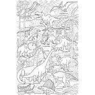 огромная раскраска парк динозавров 120 х 80 см