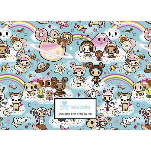 Фото - Альбом для рисования Вселенная tokidoki. Пончики А4, 25 листов, 160 г/м2, бирюзовый принадлежности для рисования апплика альбом для рисования на гребне филин а4 20 листов