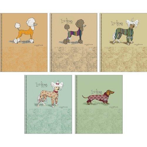 """Тетрадь """"Стильные собачки"""" А5, 48 листов, в клетку"""