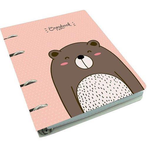 """Тетрадь на кольцах """"Cute & Funny. Медведь"""" А5, 100 листов, в клетку"""