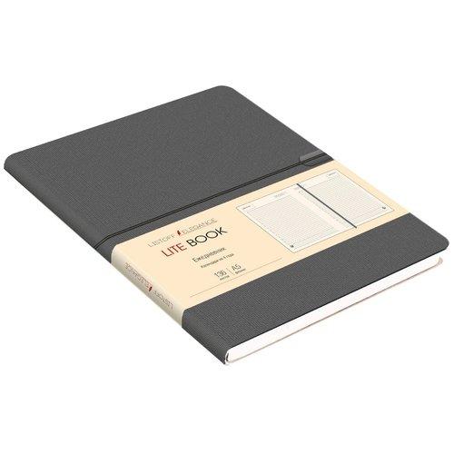 """Ежедневник недатированный """"Lite Book"""" А5, 136 листов, графитовый"""