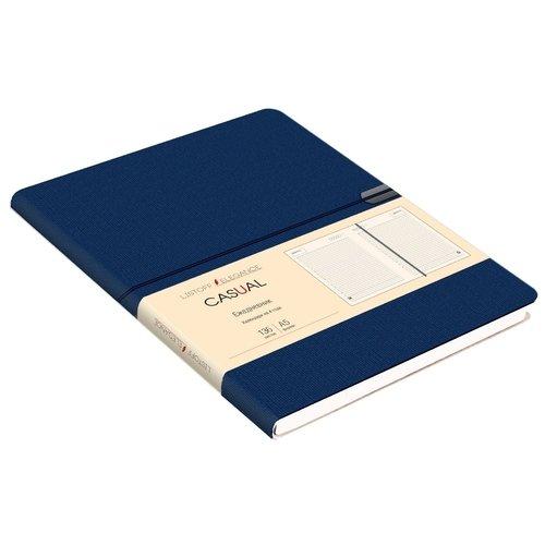 Ежедневник недатированный Casual А5, 136 листов, синий greenwich line ежедневник woodstock недатированный 136 листов цвет темно синий формат b6