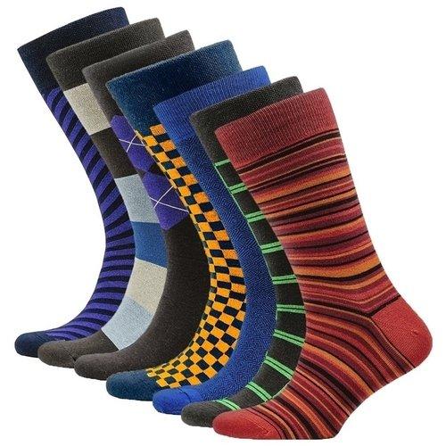Носки Aurora, 42-45, 7 пар 5 пар много носков мужчины бренд мода бизнес носки мужчины повседневный длинные носки meias 5 стиль повседневной работы crew soc