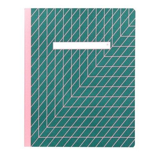 Тетрадь С5, 40 листов, в линейку, зеленая