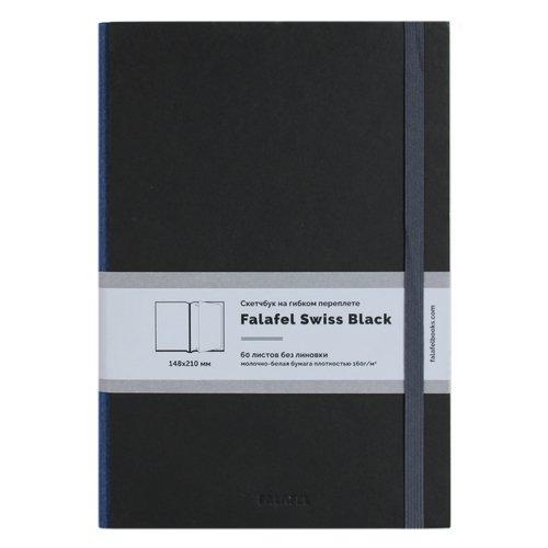 """Скетчбук на гибком переплете """"S5F Black"""" 60 листов, 160 г/м2, 14 х 20 см"""