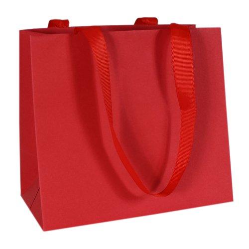 Пакет подарочный, 16 х 14 9 см, красный