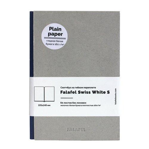 """Скетчбук на гибком переплете """"Grey White Paper Simple"""" А6, 64 листа, 160 г/м2"""