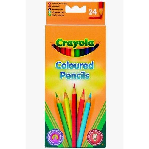 Набор цветных карандашей, 24 цвета crayola набор для творчества 40 выкручивающихся цветных карандашей crayola