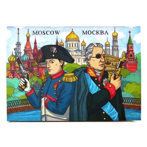 "Блокнот ""Россия. Михаил Кутузов и Наполеон"" А6, 32 листа"