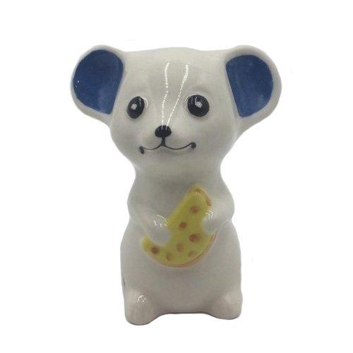 Фигурка Мышь с сыром, 7,5 х 6 см