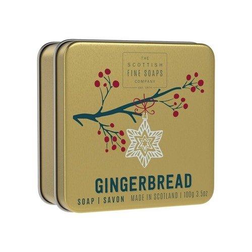 Мыло в жестяной коробочке Gingerbread, 100 г мыло ручной работы le blanc оливки в жестяной коробочке 100 г франция