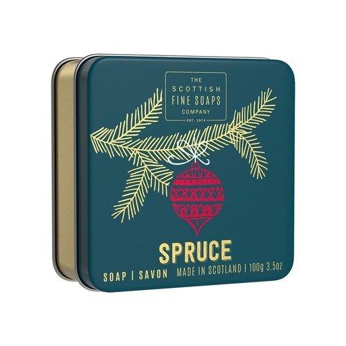 Мыло в жестяной коробочке Spruce, 100 г мыло ручной работы le blanc оливки в жестяной коробочке 100 г франция