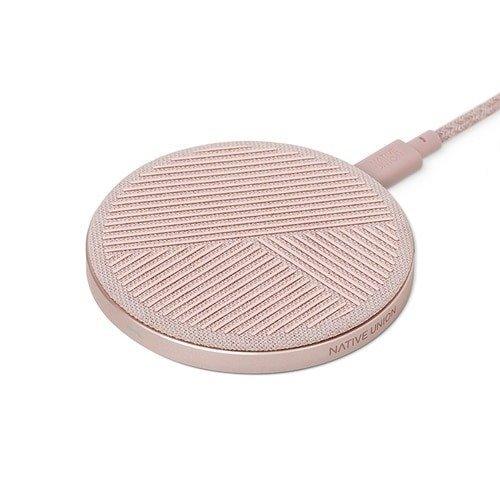 """Беспроводное зарядное устройство """"DROP V2 Qi Charger Rosa"""", 10 Вт, розовое"""