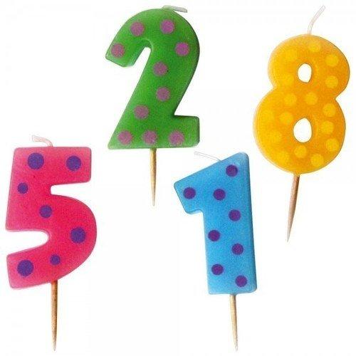 """Набор мини-свечей для торта """"Цифры"""", 6 см"""
