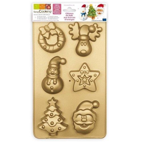 """Форма для печенья """"Рождество"""", золотистая"""