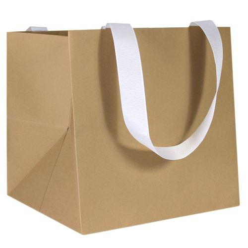 цена на Пакет подарочный, 20 х 20 х 20 см, бежевый