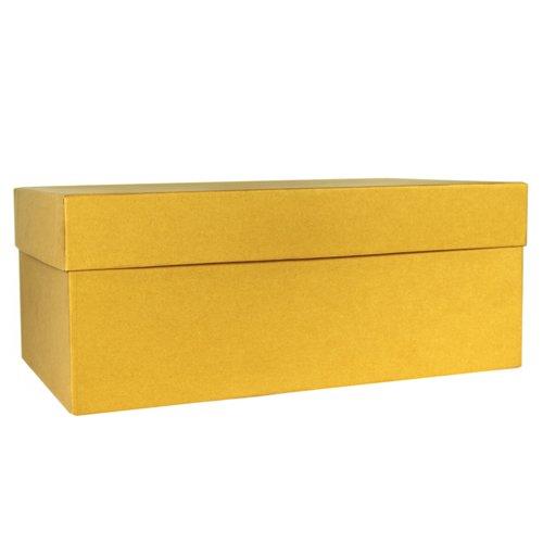 Коробка подарочная, 18 х 8 6,5 см, желтая