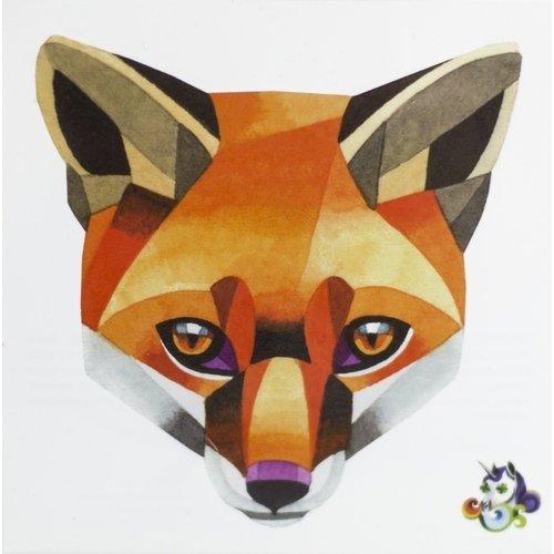 Временное тату Red fox
