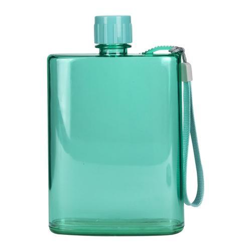 Бутылка для воды плоская, 300 мл, в ассортименте